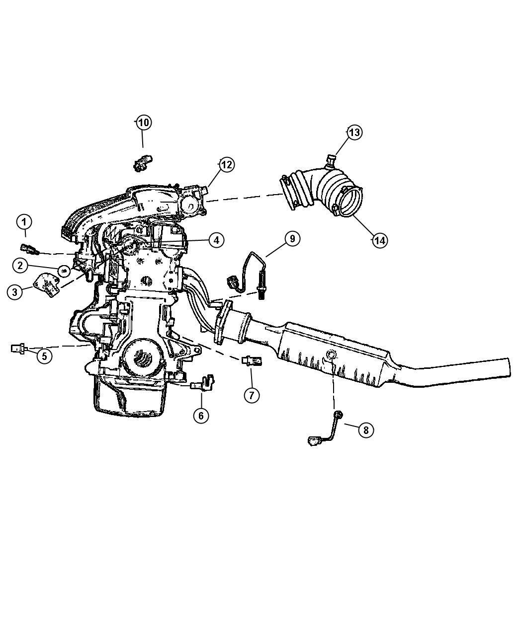 Chrysler Pt Cruiser Sensors Engine