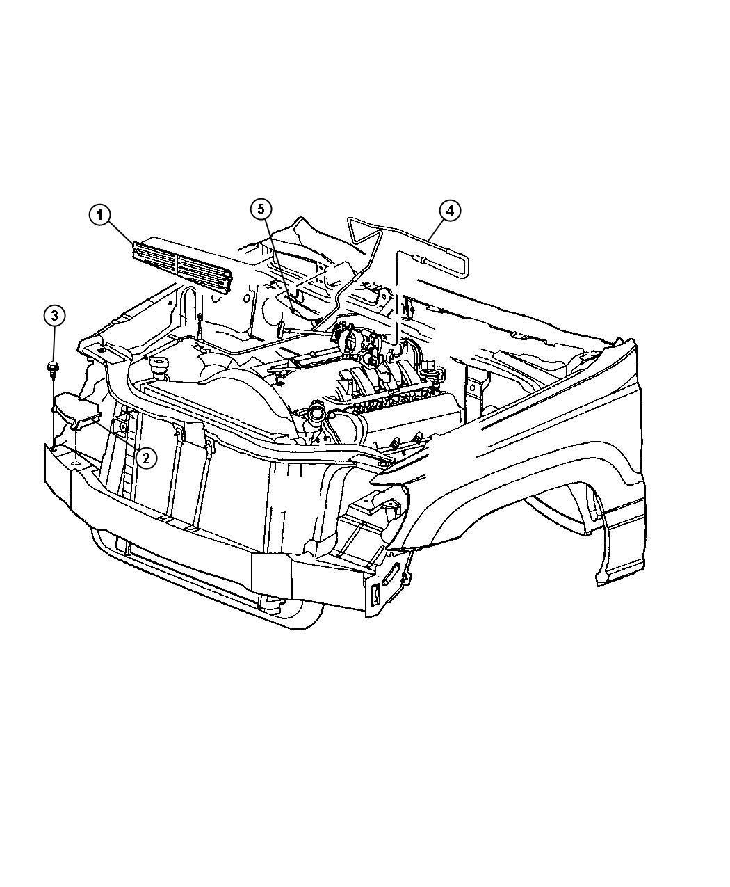 Jeep Grand Cherokee Sport 4 7l V8 Mpi 5 Spd Automatic 5 45rfe Hevac Vacuum Engine Lines