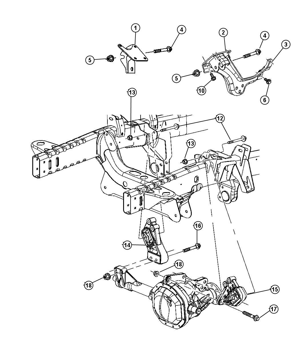 Dodge Ram Engine Mountin Front 4wd 4 7l Eva