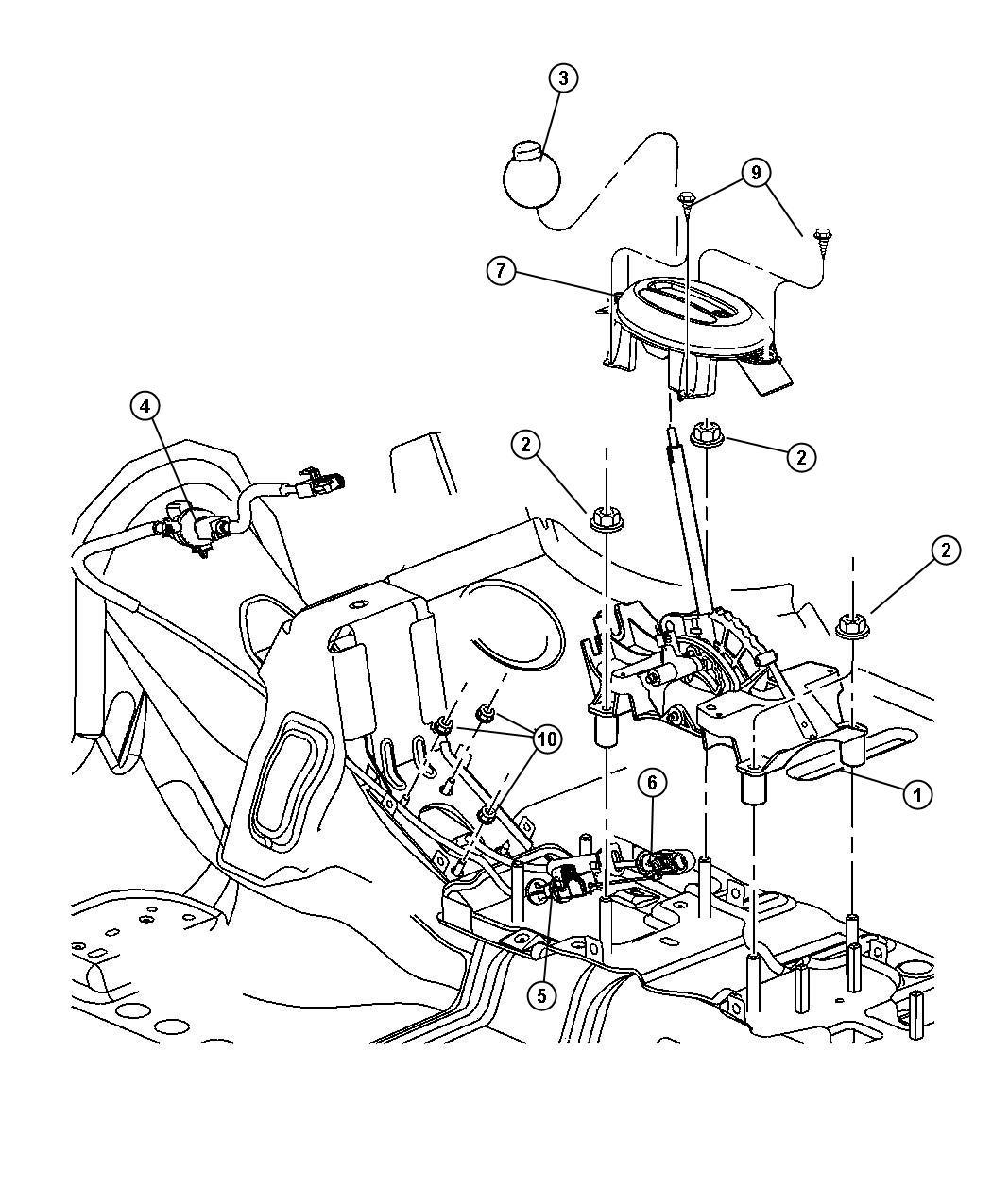 Chrysler Pt Cruiser Hatchback 4 Dr Gearshift Control