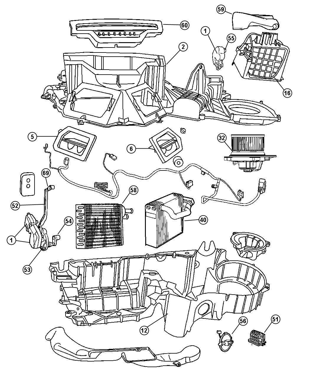 Dodge Ram Heater Box Diagram