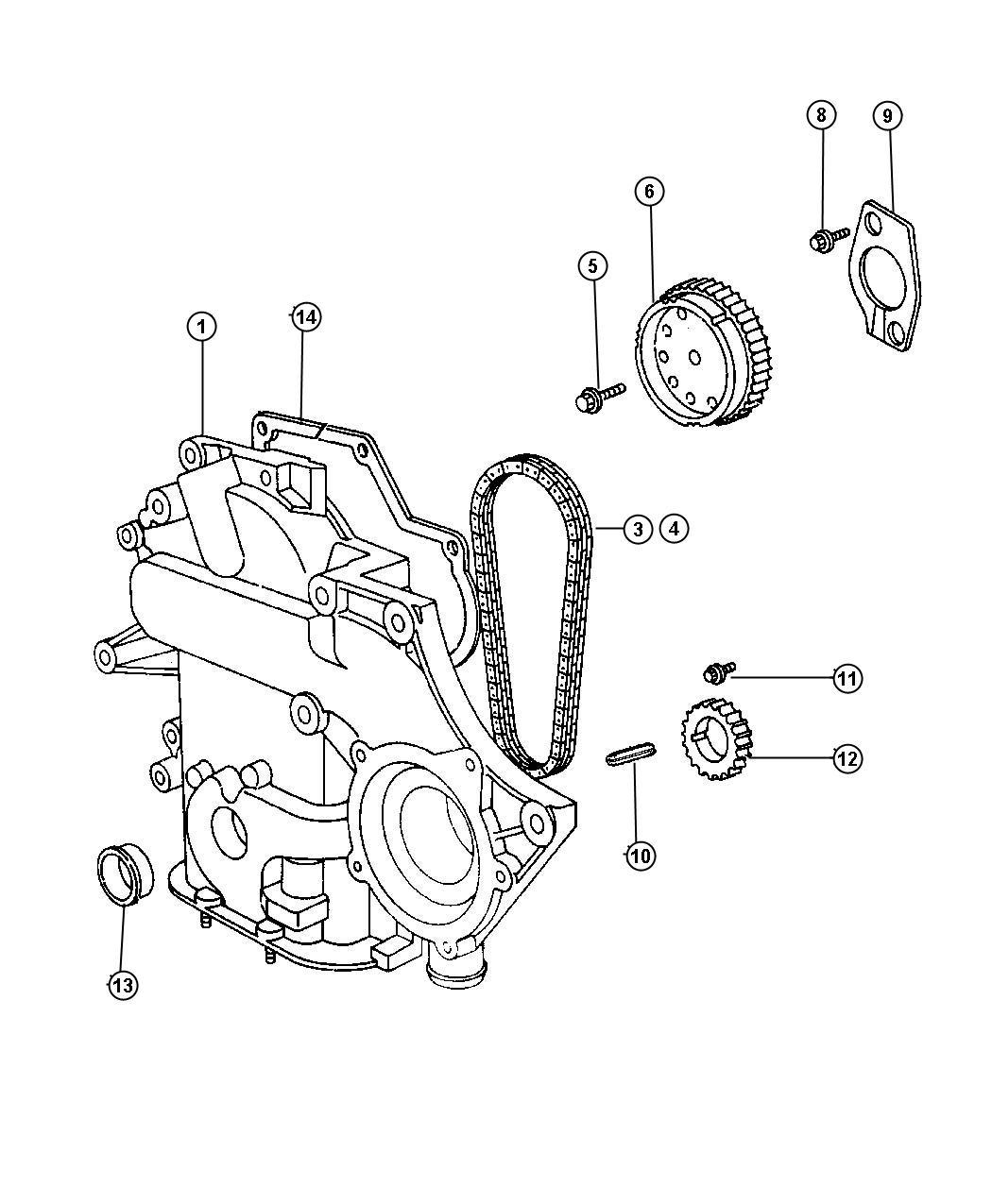 Dodge Grand Caravan Timing Chain And Cover 3 8l Egh
