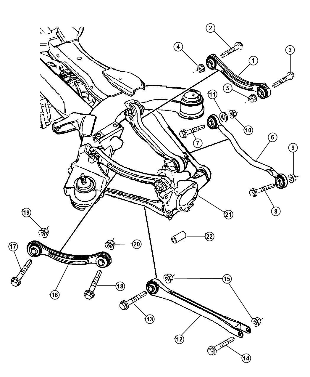 Chrysler Pacifica Suspension Rear Links Front And All