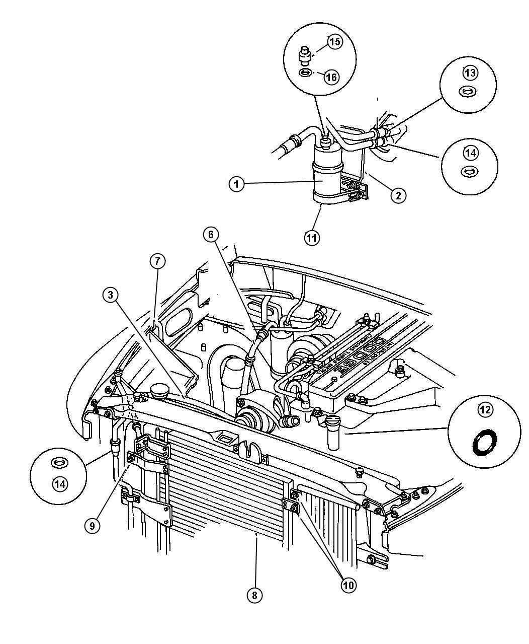 Dodge Ram Plumbing Air Conditioningsel Engine