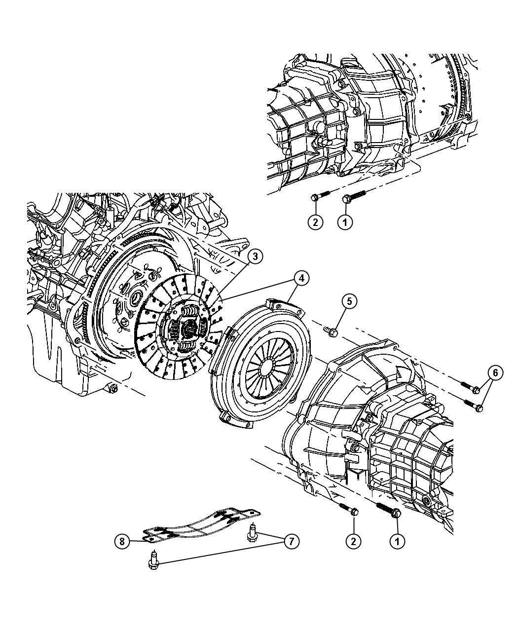 Dodge Ram Clutch Assembly With Ewc Engine