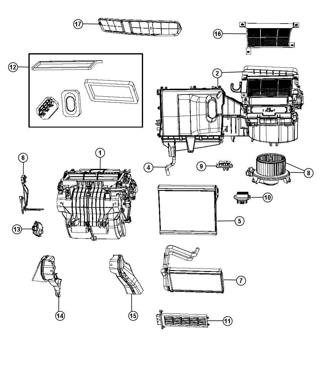 Chrysler Sebring Air Conditioning And Heater Unit