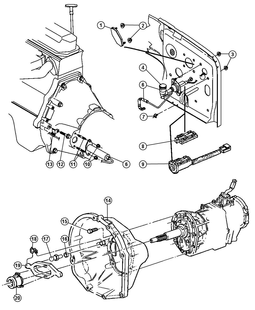 Jeep Wrangler Controls Hydraulic Clutch