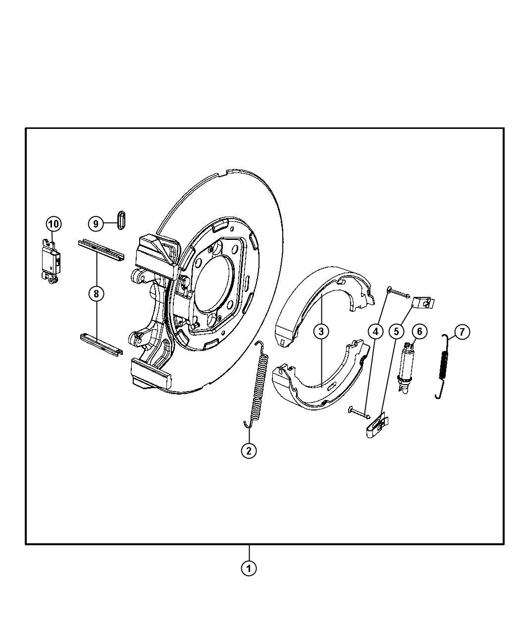 Park Brake Assembly Rear Disc