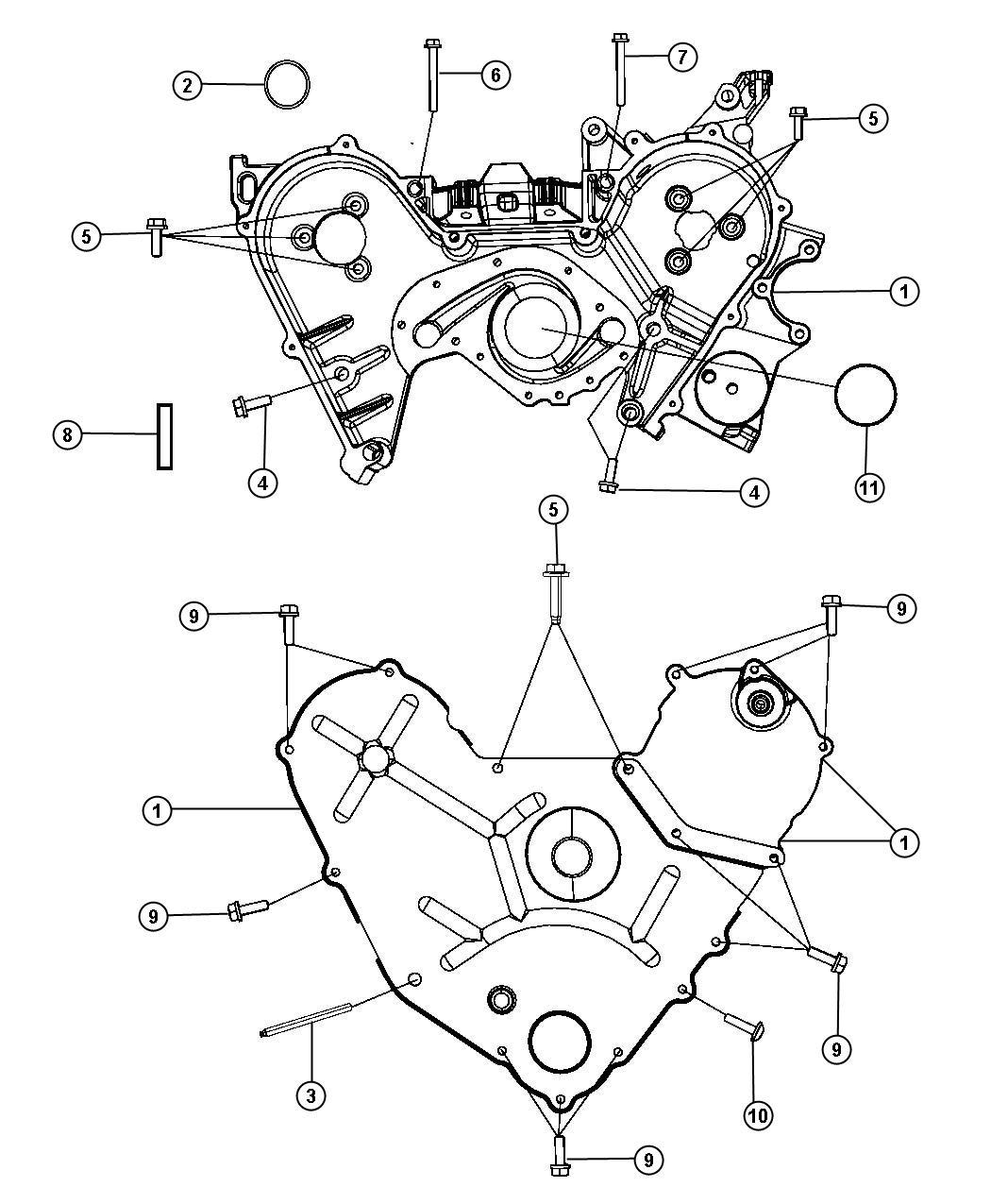 Dodge 3 5l High Output V6 24v Mpi 6 Speed Automatic 62te Timing Case Cover 3 5l Egf