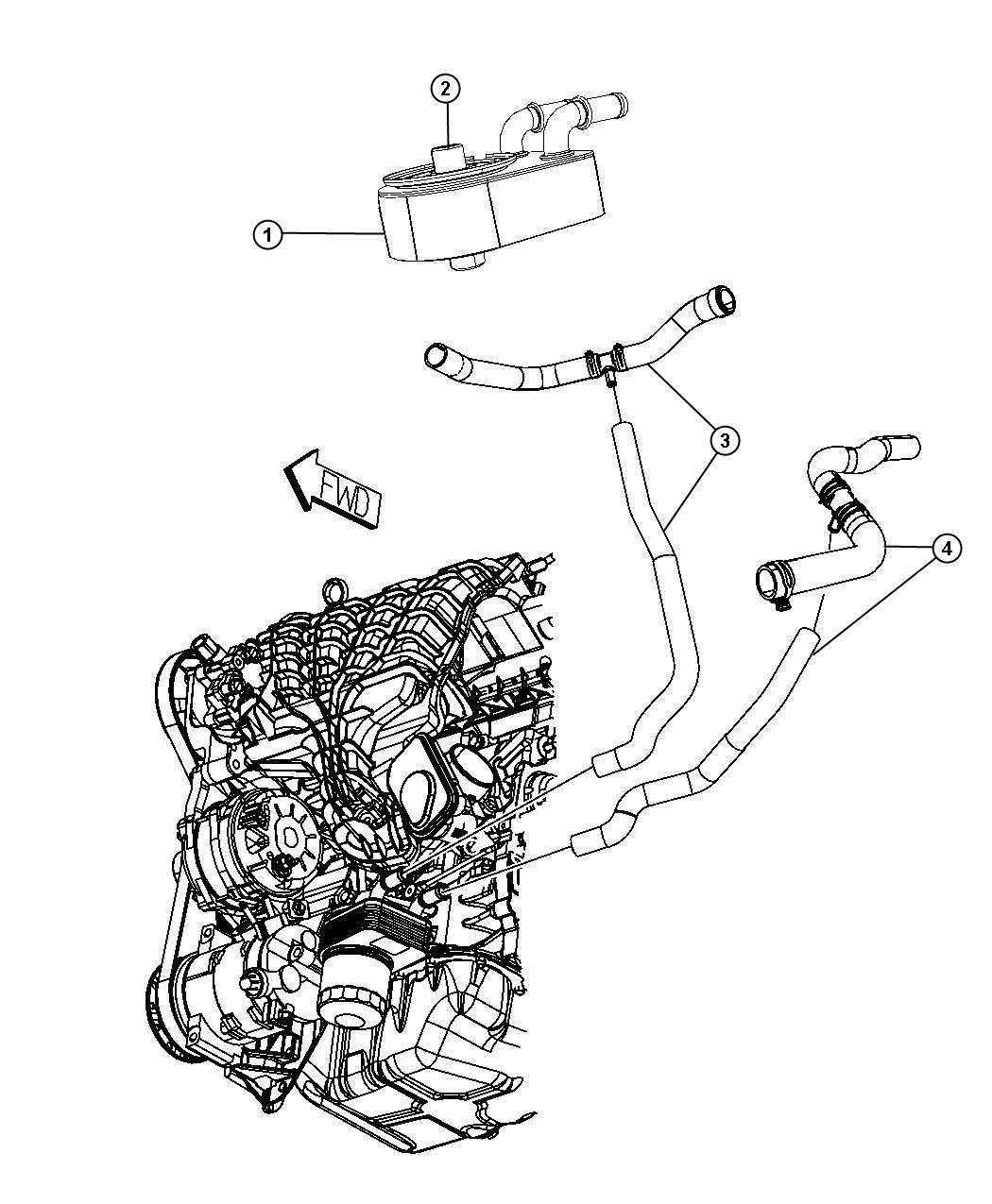 Dodge Caliber Engine Oil Cooler 1 8l Eba