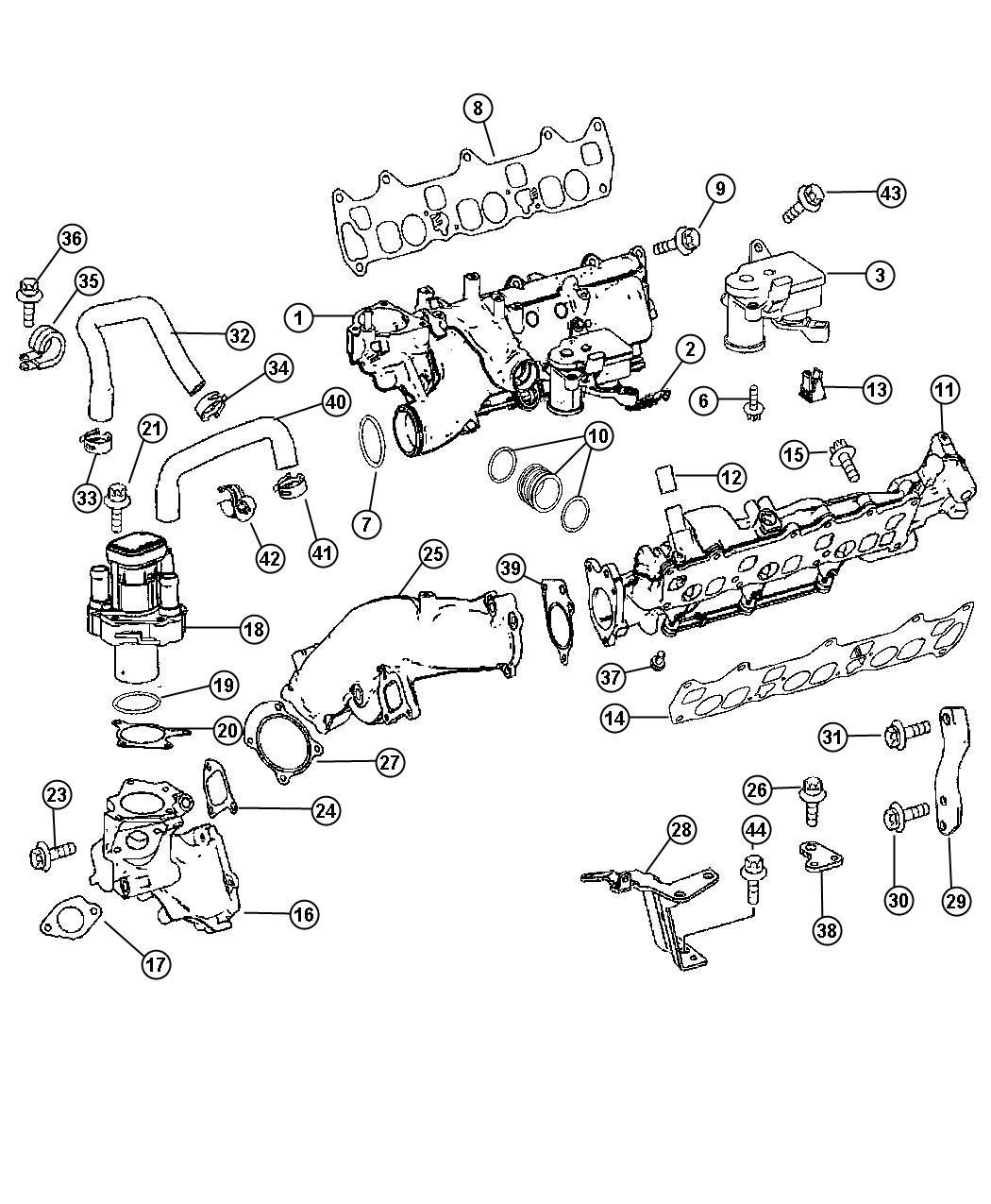 Dodge Throttle Body Control Motor Exm