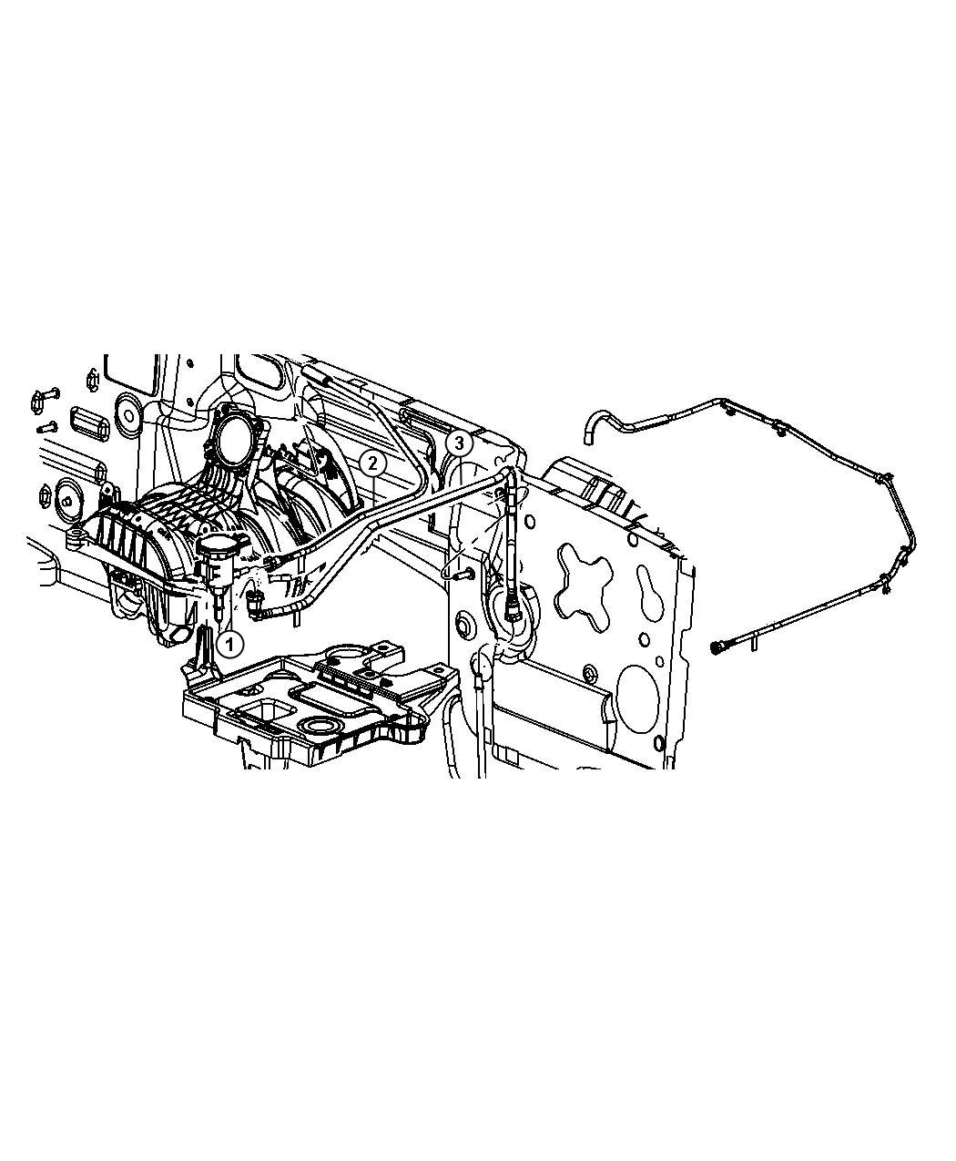 Jeep Liberty Emission Control Vacuum Harness
