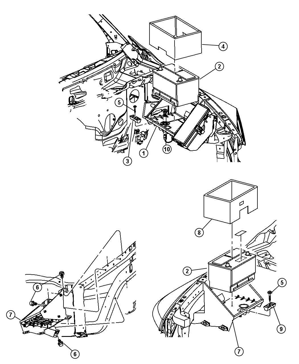 Dodge Ram Crew Cab Chassis 6 7l Cummins Turbosel 6 Speed Manual G56 Battery Tray
