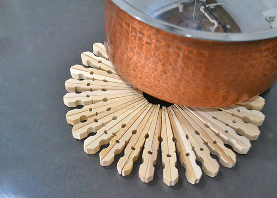 How To Make A Wood Clothespin Trivet Tutorial Factory