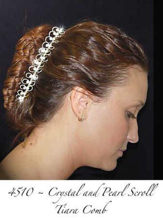 Crystal And Pearl Scroll Hair Comb Hair Accessories