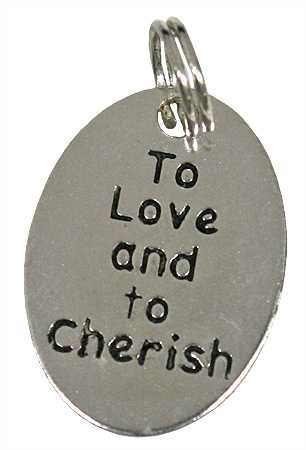 Silver Metal To Love And To Cherish Charms Valentines