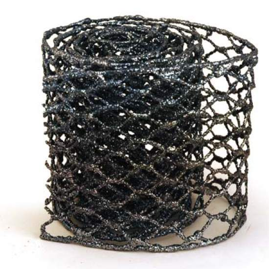 4 Teal Glitter Wire Mesh Ribbon 6ft Ribbon Sale Sales