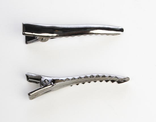 Pewter Metal Alligator Hair Clips Hair Accessories