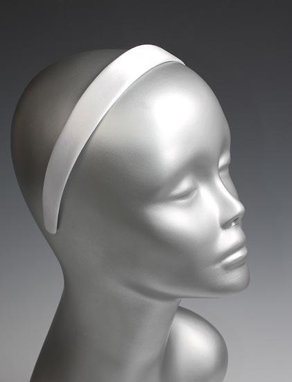 White Satin Headbands Hair Accessories Basic Craft