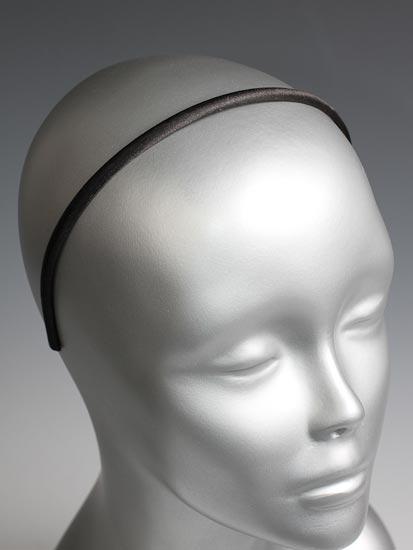 Skinny Black Satin Headbands Hair Accessories Basic