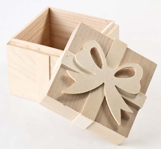 Small Unfinished Wood Gift Box Gift Bags Favor Bags