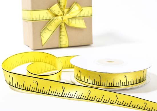 58 Yellow Satin Ruler Look School Ribbon Ribbons And