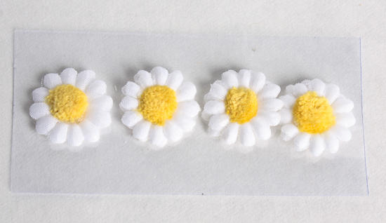 Miniature Daisy Sticker Embellishments Scrapbooking