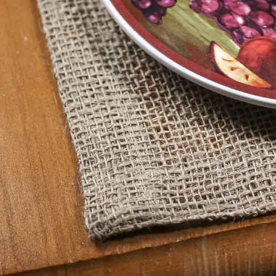 Natural Woven Jute Burlap Table Runner Textiles And Linens Home Decor