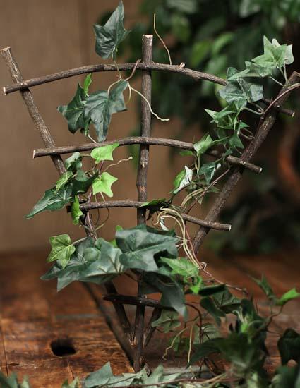 fairy garden trellises Mini Real Twig Fairy Garden Trellis - Natural Grapevine
