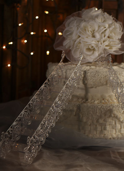Clear Acrylic Cake Stairs And Platform Cake Stands