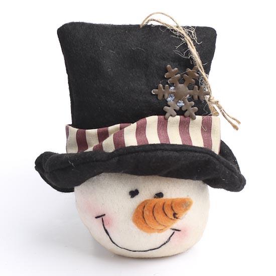 Felt Snowman Head Ornament Christmas Ornaments