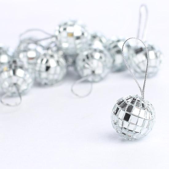Miniature Mirrored Mosaic Disco Ball Ornaments Christmas