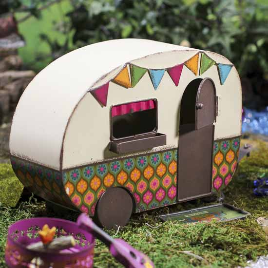 Vintage Inspired Fairy Garden Camper Whats New