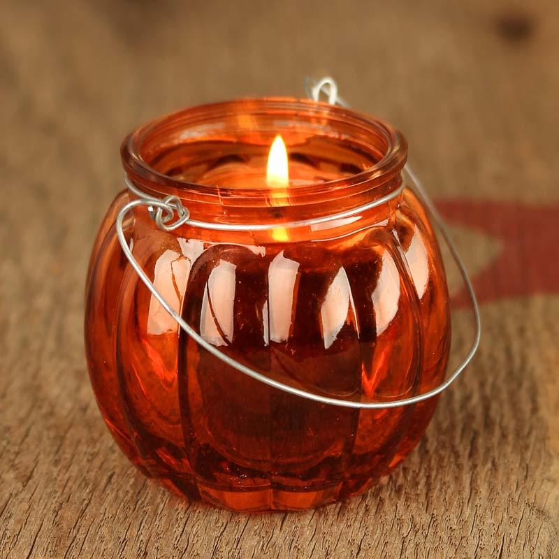 Glass Pumpkin Candle Holder Candles And Accessories Home Decor