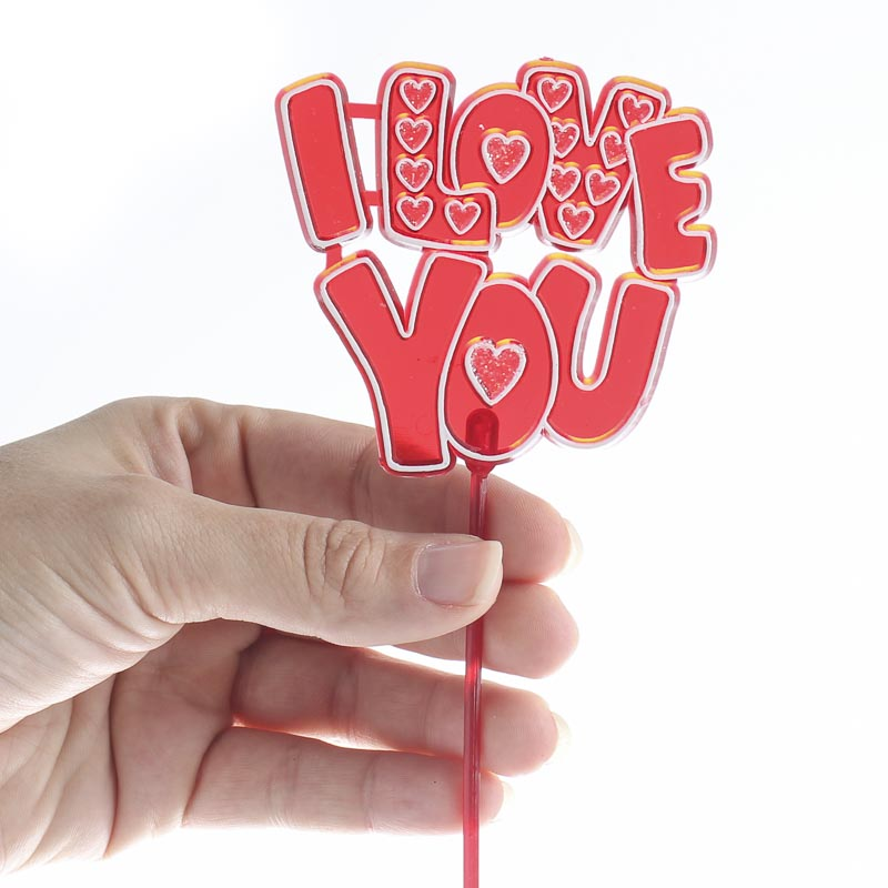 I Love You Acrylic Valentines Day Picks Floral Sale