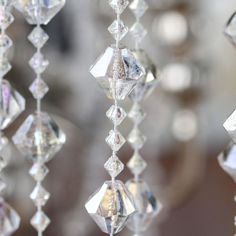 Iridescent Acrylic Crystal Garland Pearl Spools Basic