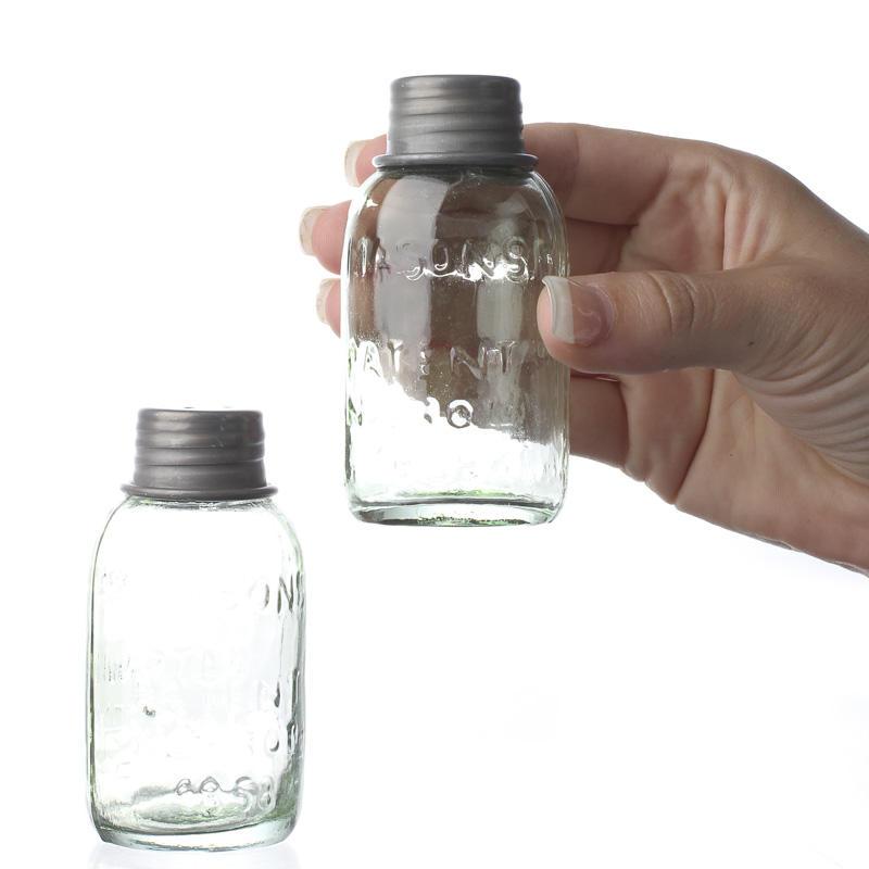 Mini Mason Jar Salt And Pepper Shaker Bottle Set Kitchen And Bath Home Decor