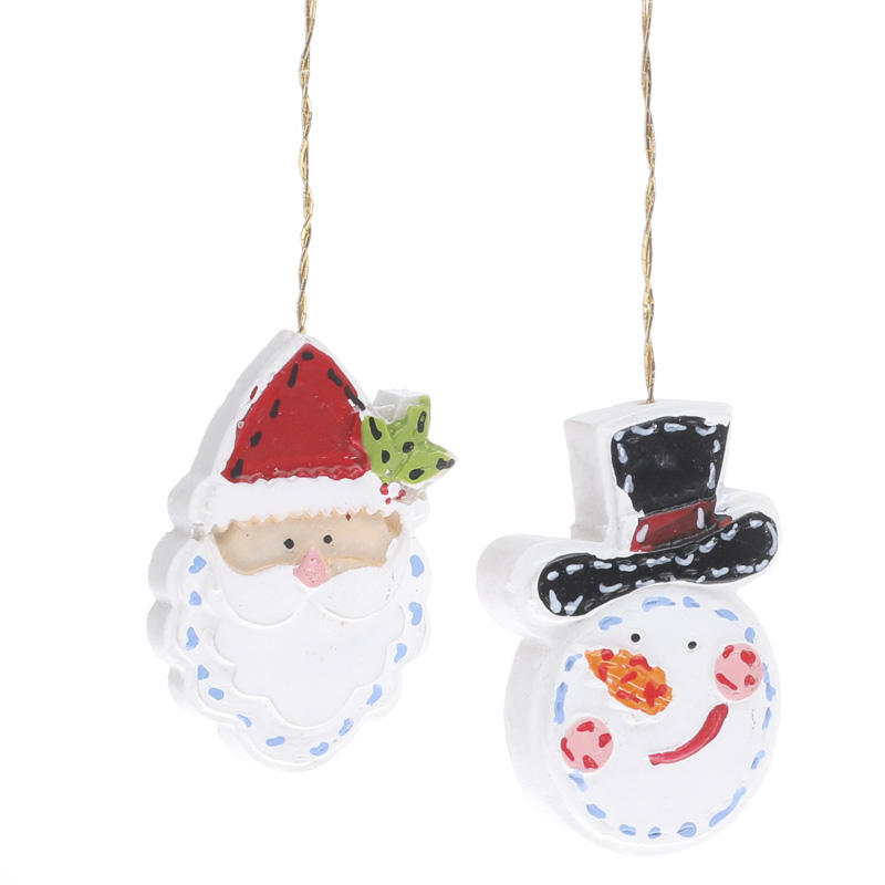 Miniature Snowman And Santa Ornaments Christmas