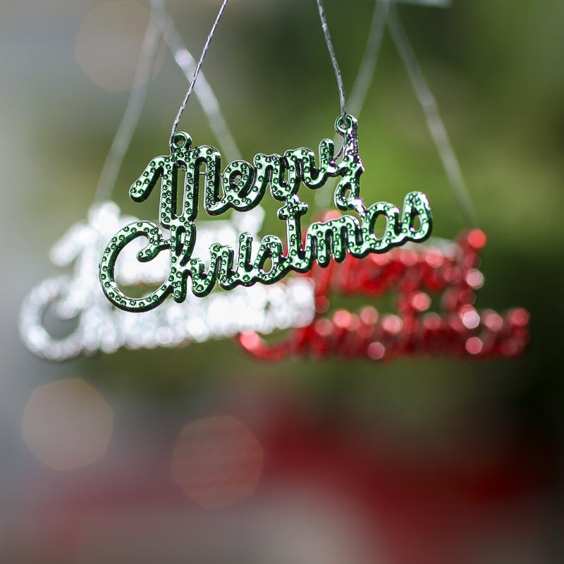 Miniature Merry Christmas Ornaments Christmas