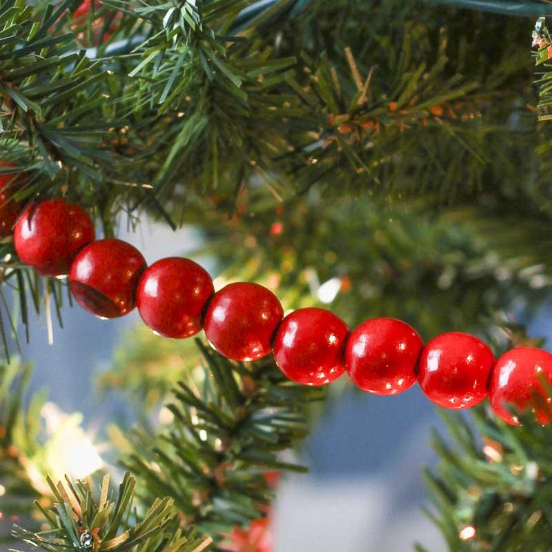 Scarlet Red Bead Garland Christmas Garlands Christmas