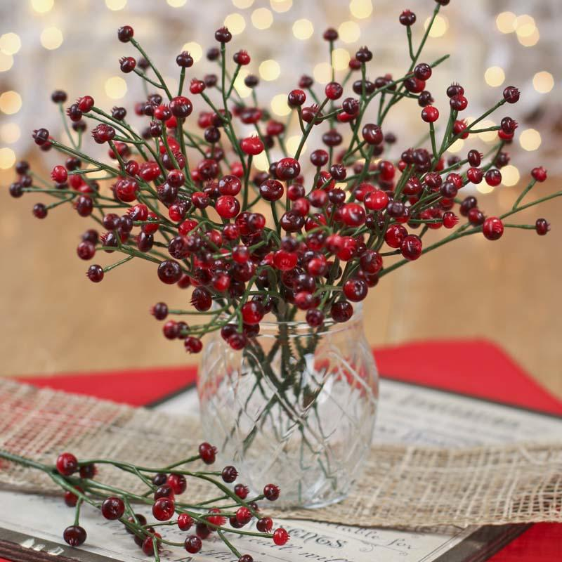Red And Burgundy Artificial Berry Picks Holiday Florals