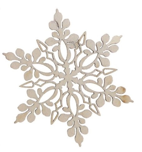 Unfinished Wood Laser Cut Snowflake Ornaments Christmas