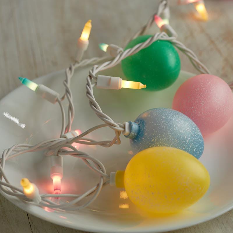 Speckled Easter Egg And Pastel Bulb Cord String Lights