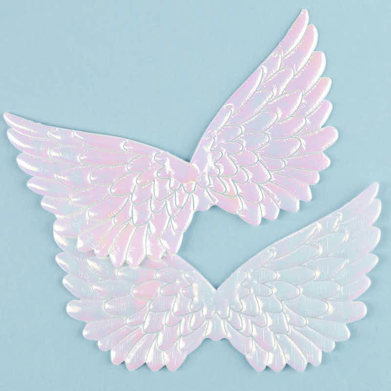 Embossed Iridescent Angel Wings Angel Wings Doll