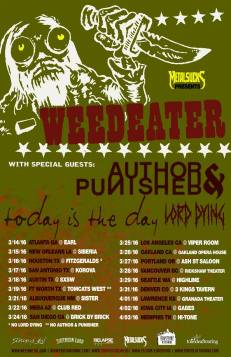 Weedeater spring tour, with support from Author & Punisher