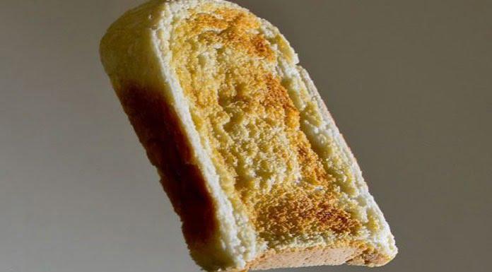 Buttered toast phenomenon