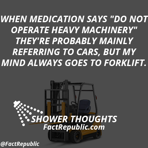 When medication says
