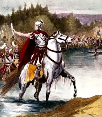 Image result for image of caesar's crossing the rubicon
