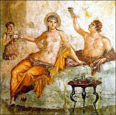 Image result for Ancient Roman feast