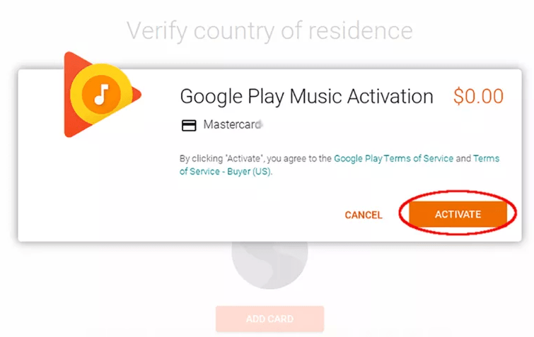 Activate Google Play Music on ChromeOS